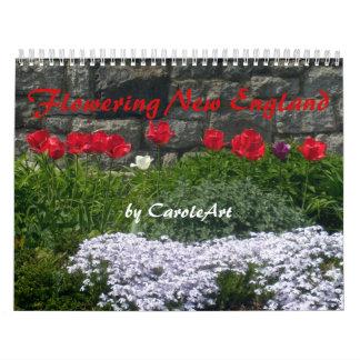 Un calendario de florecer Nueva Inglaterra