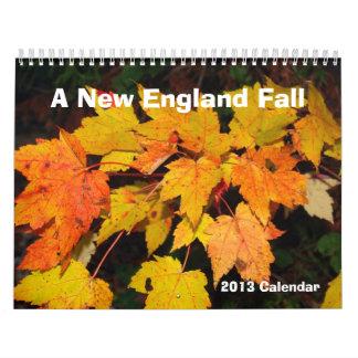 Un calendario de la caída 2013 de Nueva Inglaterra