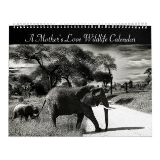 Un calendario de la fauna del amor de madre