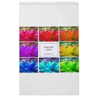 Un calendario de la flor