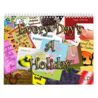 Un calendario del día de fiesta 2011 de cada día