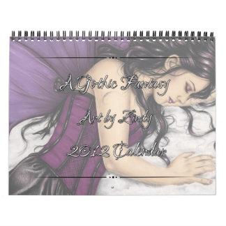 Un calendario gótico de la fantasía 2012