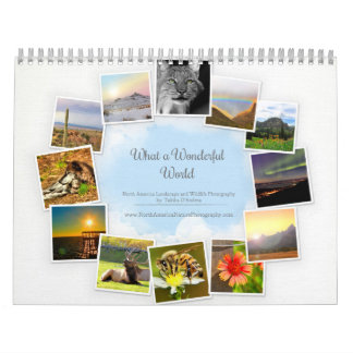 Un calendario maravilloso de la fauna y del