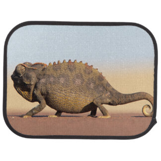 Un camaleón de Namaqua que camina a través de un Alfombrilla De Auto
