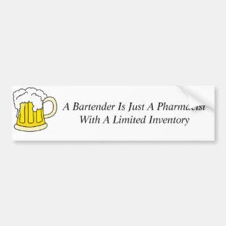 Un camarero es apenas farmacéutico pegatina para auto