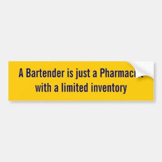 Un camarero es pegatina del farmacéutico pegatina para auto