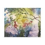 Un camino a la nueva lona de la vida impresión en lienzo estirada