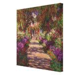 Un camino en Garden de Monet, Giverny, 1902 Impresión En Lona Estirada