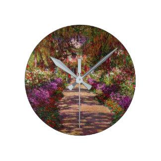 Un camino en Garden de Monet, Giverny, 1902 Reloj De Pared