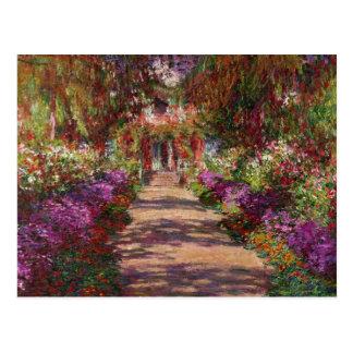 Un camino en Garden de Monet, Giverny, 1902 Postal
