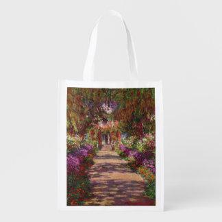 Un camino en Garden de Monet, Giverny, 1902 Bolsas Reutilizables