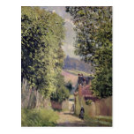 Un camino en Louveciennes, 1883 Postal