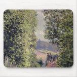 Un camino en Louveciennes, 1883 Tapetes De Raton