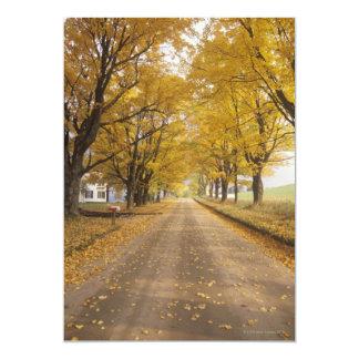 """Un camino rural en Peacham Invitación 5"""" X 7"""""""