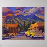 Un camión amarillo en Taos de Alan Heuer Posters