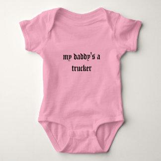 un camionero de mi papá body para bebé