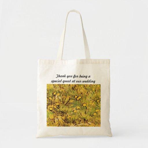 Un campo de flores amarillas de Van Gogh Bolsa Tela Barata