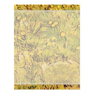 Un campo de las flores amarillas, Vincent van Tarjetón