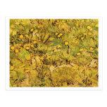 Un campo de las flores amarillas, Vincent van Gogh Postal