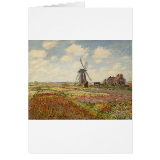 Un campo de tulipanes en Holanda (1886) Felicitaciones
