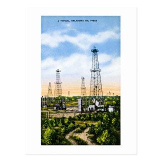 Un campo petrolífero típico de Oklahoma Tarjeta Postal