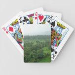 Un campo verde hermoso baraja de cartas