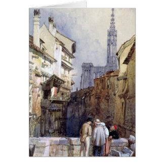 Un canal en Estrasburgo Tarjeta De Felicitación