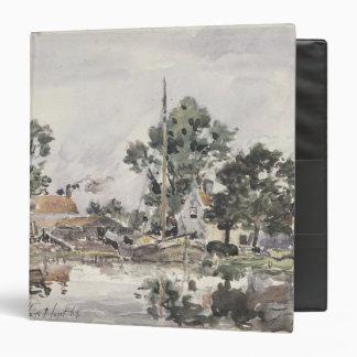 """Un canal en La Haya, 1868 Carpeta 1 1/2"""""""