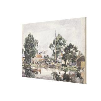 Un canal en La Haya, 1868 Lona Envuelta Para Galerias