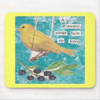 Un canario, canta mejor en amor alfombrilla de ratón
