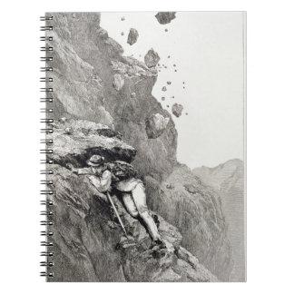 Un cañoneo en el Cervino, 1862, 'del Asc Libros De Apuntes Con Espiral