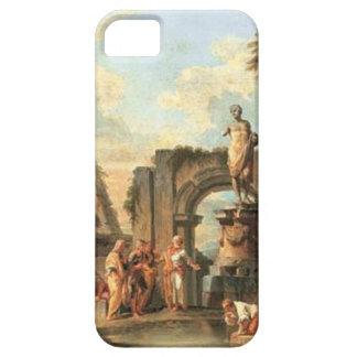 Un capricho de ruinas clásicas con Diógenes iPhone 5 Carcasas