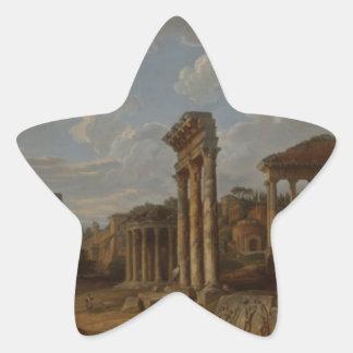 Un capricho del foro romano de Juan Pablo Pegatina En Forma De Estrella