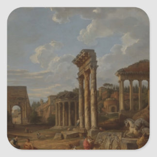 Un capricho del foro romano de Juan Pablo Pegatina Cuadrada