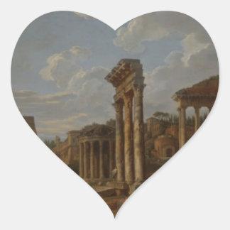 Un capricho del foro romano de Juan Pablo Pegatina En Forma De Corazón