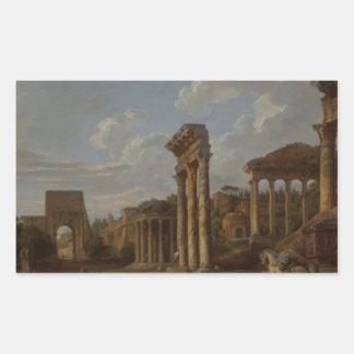 Un capricho del foro romano de Juan Pablo Pegatina Rectangular