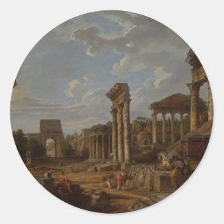 Un capricho del foro romano de Juan Pablo Pegatina Redonda