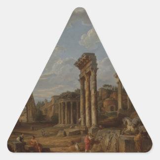 Un capricho del foro romano de Juan Pablo Pegatina Triangular