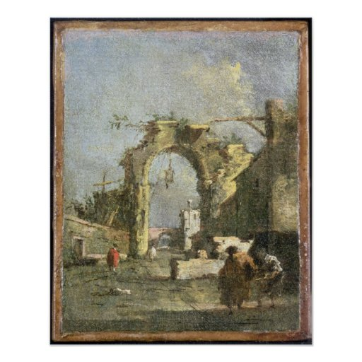 Un capricho - ruinas, siglo XVIII Póster