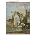 Un capricho - ruinas, siglo XVIII Tarjeta