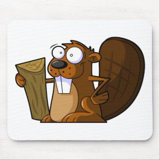 Un carácter lindo del castor del dibujo animado qu tapete de ratones
