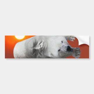 Un carácter sagrado y un apuro de los osos polares pegatina para auto