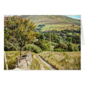 Un carril en País de Gales Tarjeta De Felicitación