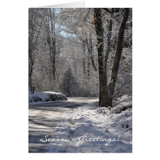 Un carril nevoso en la tarjeta de Francia