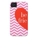 un caso a juego de los mejores amigos rosados de C iPhone 4 Cobertura