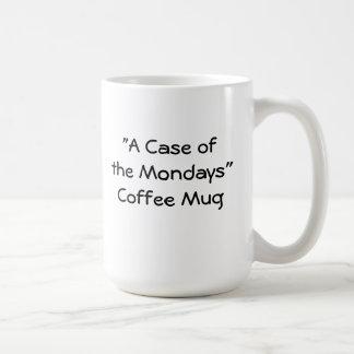 Un caso de la taza de café de lunes