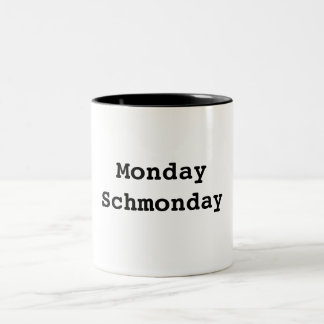 Un caso de los lunes taza de café de dos colores