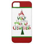 Un caso del iPhone 5 de las Felices Navidad muy iPhone 5 Case-Mate Carcasa