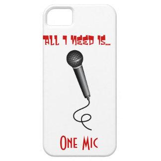 Un caso del iPhone 5 del Mic iPhone 5 Coberturas