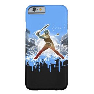 Un caso del iPhone 6 del bateador del home run Funda De iPhone 6 Barely There